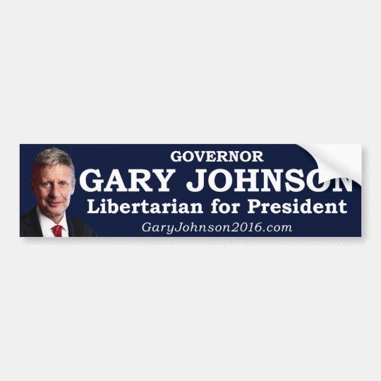 Gary Johnson for President Bumper Sticker