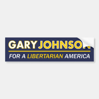 Gary Johnson Libertarian Bumper Sticker