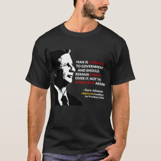 Gary Johnson Master of Government Tee Shirt