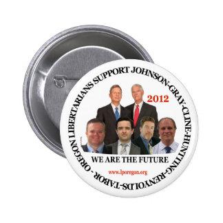 Gary Johnson Oregon Libertarians 6 Cm Round Badge