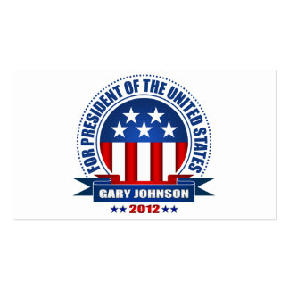 Gary Johnson Pack Of Standard Business Cards