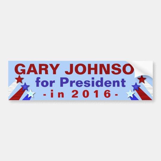Gary Johnson President 2016 Election Libertarian Bumper Sticker