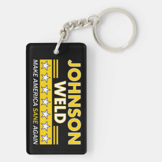 Gary Johnson & Weld Libertarian (2-sided) Keychain