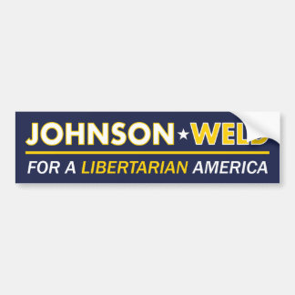 Gary Johnson / Weld Libertarian Bumper Sticker