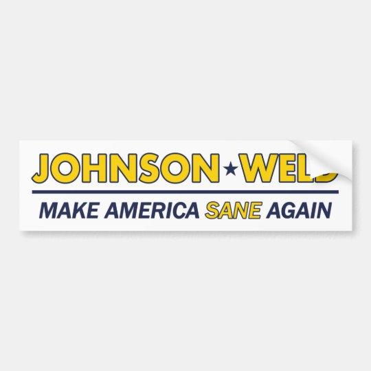 Gary Johnson / Weld Libertarian Bumper Sticker