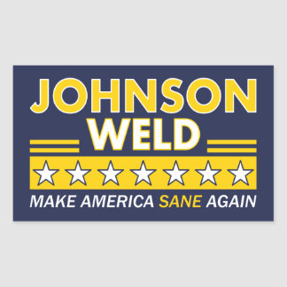 Gary Johnson / Weld Libertarian Election STICKERS