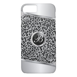 Gary Leopard and Metal Print | Monogram iPhone 7 Case