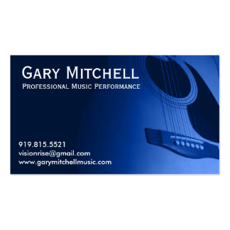 Gary Mitchell Music Pack Of Standard Business Cards