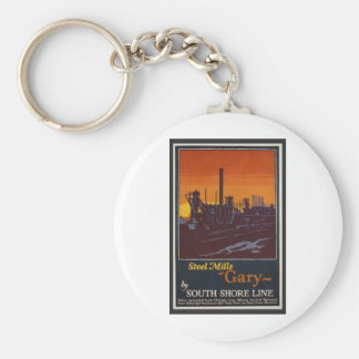 Gary Steelworks IN Poster Key Ring