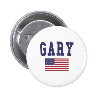 Gary US Flag 6 Cm Round Badge