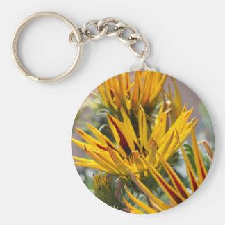 garzania gardenia flower in the garden basic round button key ring