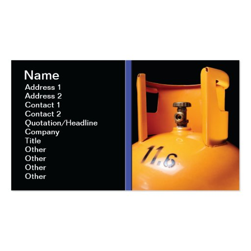 Gas bottle Double Sided standard business cards Pack of