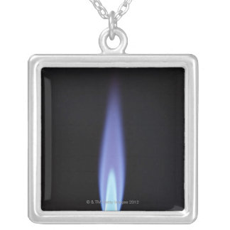 Gas Burner Silver Plated Necklace