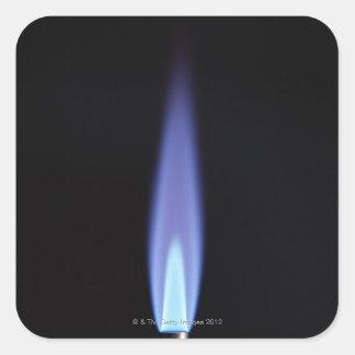Gas Burner Square Sticker