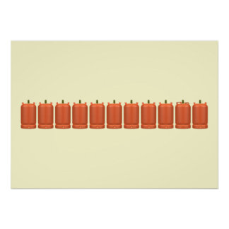 Gas gas cylinders butane poster