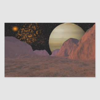 Gas Giant Space Scene Stickers
