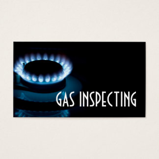 Gas Inspector Services Stove Fire Heating Cooling Business Card