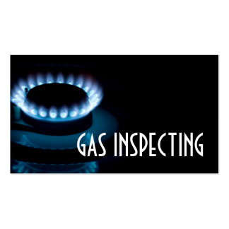 Gas Inspector Services Stove Fire Heating Cooling Pack Of Standard Business Cards