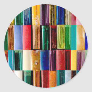 Gas Lighter Shells Creative Abstract Art Collage Classic Round Sticker