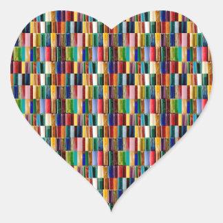 Gas Lighter Shells Creative Abstract Art Collage Heart Sticker