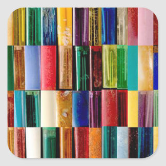 Gas Lighter Shells Creative Abstract Art Collage Square Sticker