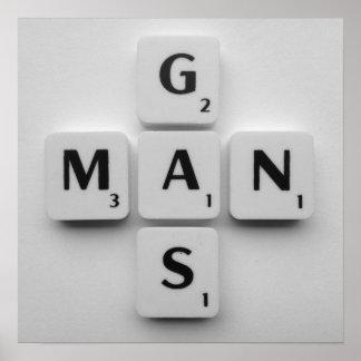 Gas Man Poster B/W