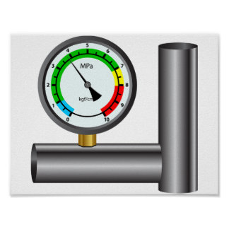 Gas Manometer Poster