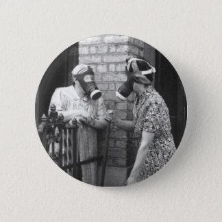 Gas Mask 6 Cm Round Badge