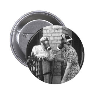 Gas Mask 6 Cm Round Badge