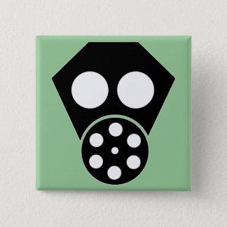 Gas Mask ~ Anarchist Attire 15 Cm Square Badge
