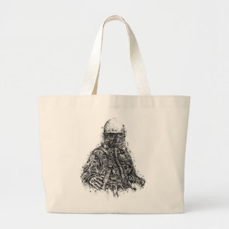 Gas Mask Custom Drawing Canvas Bag