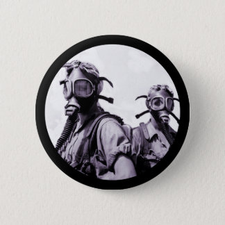 Gas Mask Girls in Purple 6 Cm Round Badge