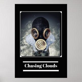 Gas Mask Man Vape Premium Poster
