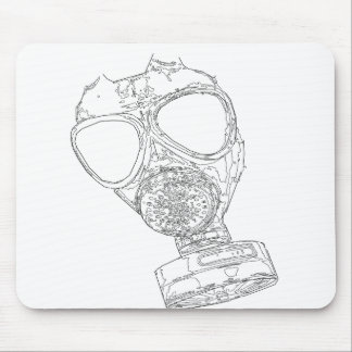 gas mask mouse mats
