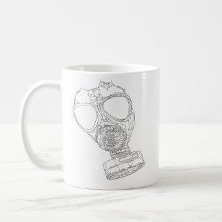 gas mask mug