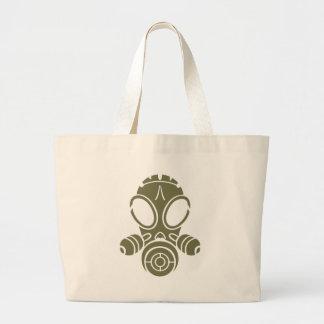 gas mask od green jumbo tote bag