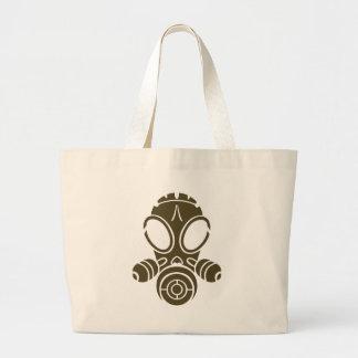 gas mask od khaki large tote bag