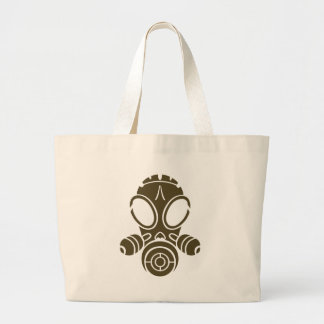 gas mask od khaki jumbo tote bag