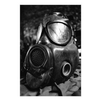 Gas mask photograph