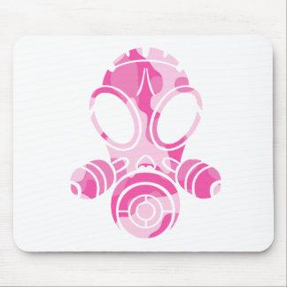 gas mask pink camo mouse mat