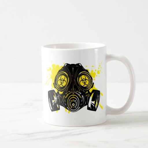 GAS_MASK_PROTECTION BASIC WHITE MUG