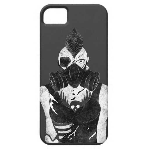 Gas Mask Punk Girl iPhone 5 Cases