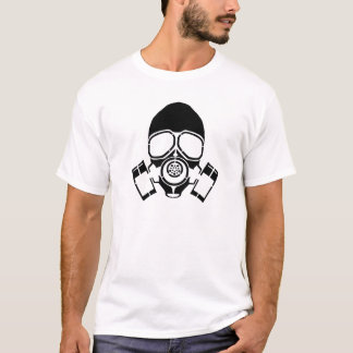 gas mask stencil logo T-Shirt