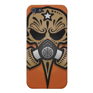 Gas Mask Sugar Skull (brown) Case For iPhone 5
