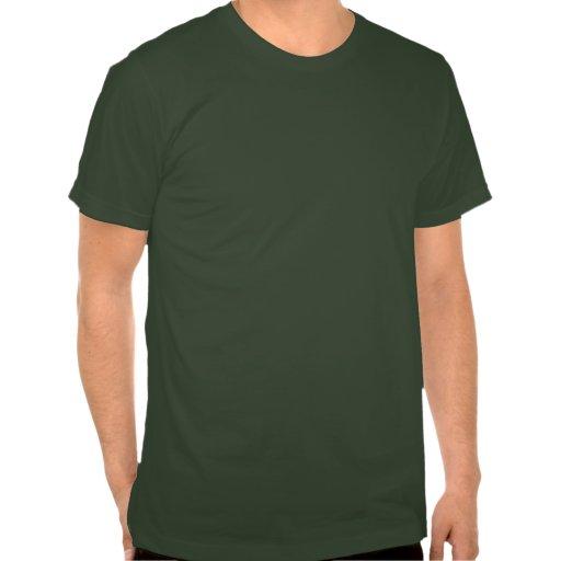 Gas Mask Sugar Skull (green) Tee Shirt