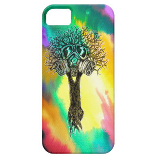 Gas Mask Tree iPhone 5 Case