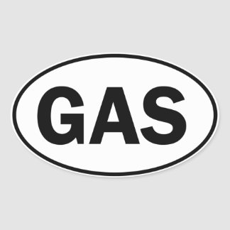 GAS Oval Identity Sign Oval Stickers