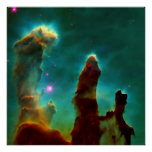 Gas Pillars in the Eagle Nebula -2007 Poster