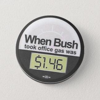 Gas price 6 cm round badge