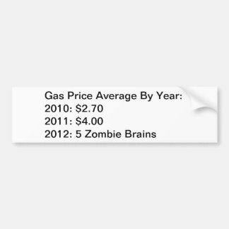 Gas Price Average By Year Car Bumper Sticker